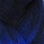 Color Swatch: 1B Off Black with Navy Blue Tips